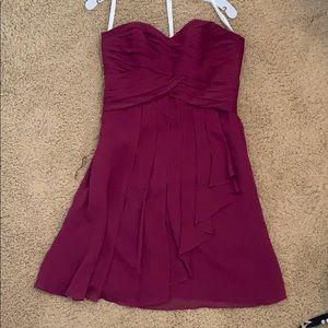 Sangria colored shirt dress